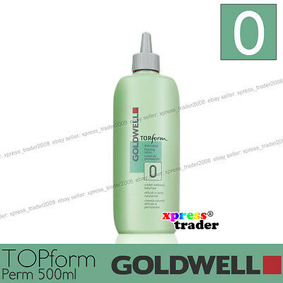 "Goldwell Topform Permanent Lotion 500ml ""Type 0"" For difficult to perm natural"