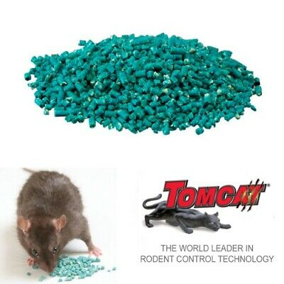 TOMCAT PELLETS 2.5kg Rat Mouse Bait Poison Rodenticide Bromadiolone Single Feed