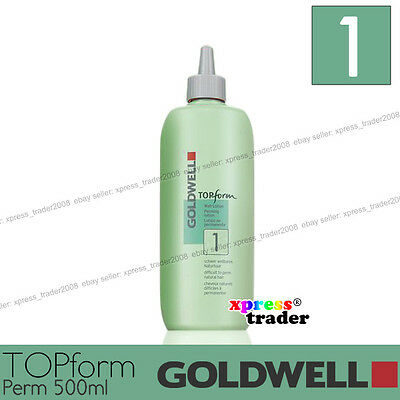 "Goldwell Topform Permanent Lotion 500ml ""Type 1"" For normal to fine natural hair"