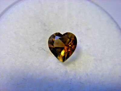 Citrine Heart Cut Gemstone 5 mm x 5 mm 0.32 carat Gem Yellow Stone