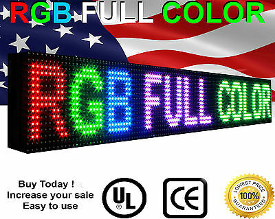 """Full Color LED Sign Semi-Outdoor Programmable Scrolling video image 6""""x 76"""""""