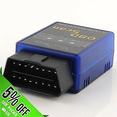 2015 Vgate Mini ELM327 OBD2 OBDII Bluetooth CAN Scanner for TORQUE ANDROID