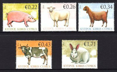Cyprus 2010 Farm Animals Set 5 MNH