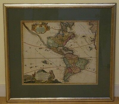 North & South America California Caribbean Brazil Engr. Map Homann 1730 #b446S