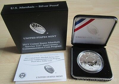 USA 1 Dollar 2015 225 Jahre US Marshals Service Silber Ag PP Proof
