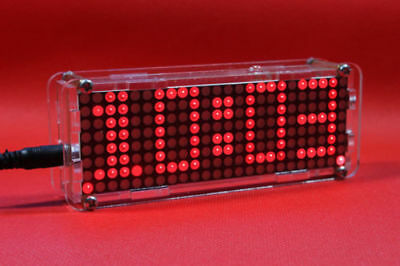Red DC 5V Matrix LED Clock Electronic SCM Digital Display Time Temperature