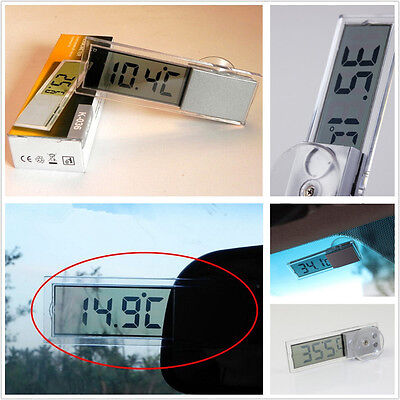 Vehicle Auto Interior Sucker LCD Digital Thermometer °C&℉ Display For Mitsubishi