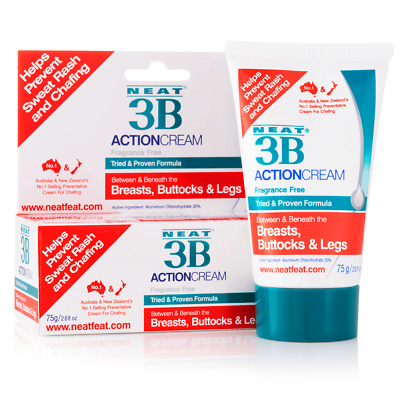 Neat 3B Action Cream 75g - Sweat rash and chafing prevention
