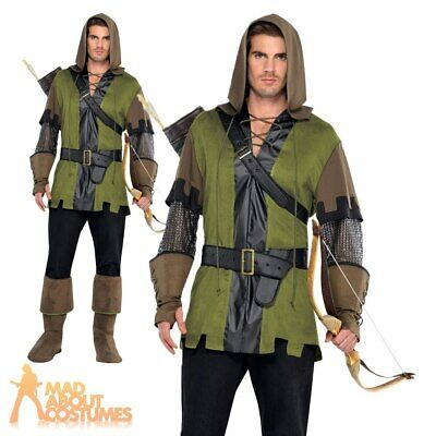 Adult Robin Hood Costume Mens Fancy Dress Prince of Thieves Outfit New
