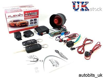 Universal Car Security Alarm System Immobiliser Central Locking + Haa Blank Keys