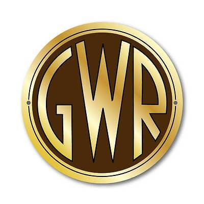 GWR Logo Sign, Metal Composite Railway Sign Great Western Logo Plaque,Train Sign