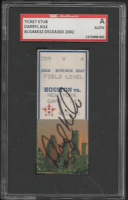 9/8 1993 Darryl Kile Houston Astros Signed No Hitter Ticket Stub Sgc Authentic