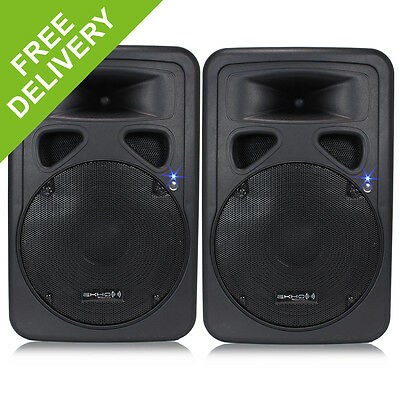 "2x 12"" Inch Professional DJ PA Disco Party Sound System Active Speakers 1200W"