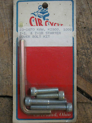 Kawasaki Kz 900, 100 Z-1 And Z-1R Starter Cover Bolt Kit Vintage  Freeshipcan+Us