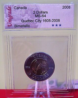 2008 Canada Quebec City 400th Anniversary 2 Dollars From Mint  Roll