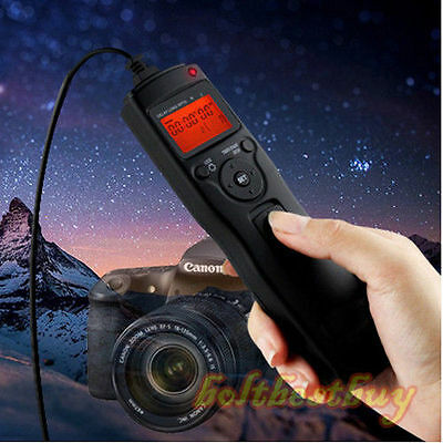 Timer Remote Control Shutter Release for Canon EOS 650D 600D 60D Rebel T4i T3i