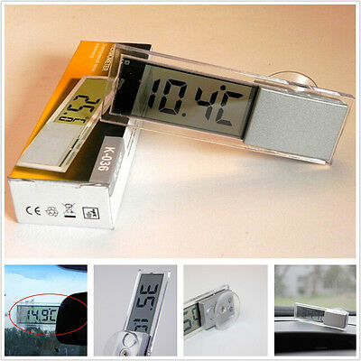 Vehicle LCD Digital Display Mini Sucker Style Temperature Thermometer For Toyota