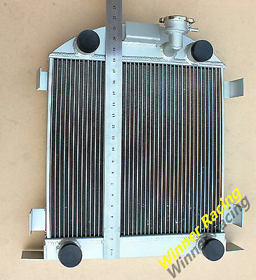 Aluminum Radiator Ford Lowboy chopped w/flathead V8 engine 1932-1939 1938 1937