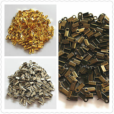 bulk small craft clasp crimp bead necklace bracelet end cord tip fold findings A