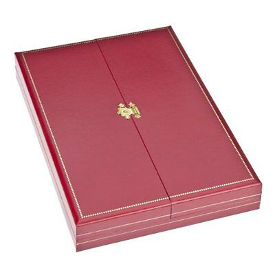 Geff House Classic Leatherette Necklace Gift Box Red