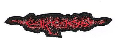 patch embroidered / écusson thermocollant Carcass Logo Rouge / Red