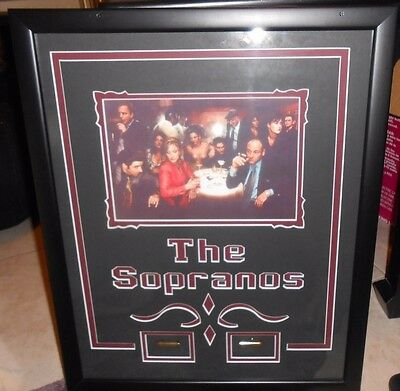 """The Sopranos Framed Picture / Photo With Bullets 18"""" X 22"""""""