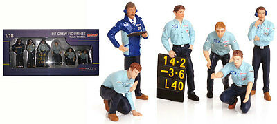 Truescale TSM12AC12 Pit Crew Figurines Team Tyrrell F1 (Set Of 6) 1/18 Scale