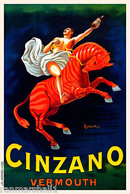 1900's Cinzano Vermouth Wine France French Spirits Advertisement Art Poster