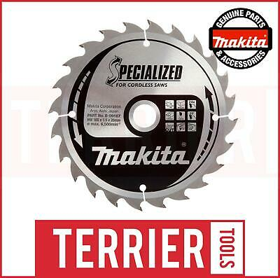 Makita Specialized Saw Blade 165 X 20 24Teeth For Dhs630 B-09167