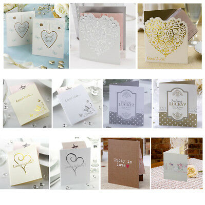 10 Lottery Ticket Scratch Card Holders - Lotto Wedding Table Favours