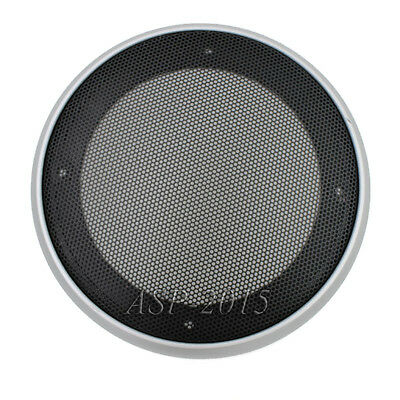 "Universal 8"" 240MM Speaker Coaxial Steel Sub Mesh Grills Cover Silver Woofer"