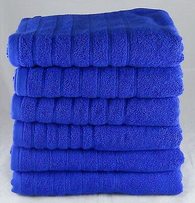 Wholesale Royal Blue Egyptian Cotton 525 GSM Hand Towels Pack / Set of 24