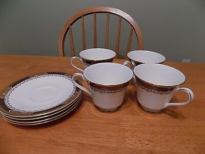 LOT of 4 VERONA Royal Doulton H5064 CUP/S and SAUCER/S SET/S England Bone China