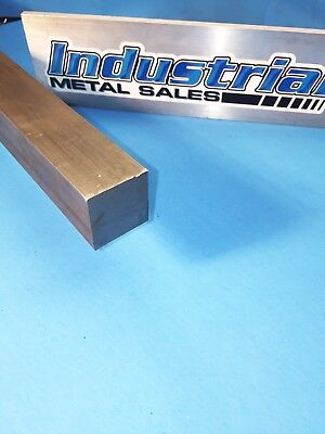 """1-1/4"""" x 12""""-Long 416 Stainless Steel Square Bar- 1.250""""   416 Stainless Steel"""