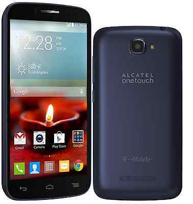 Great Condition Alcatel OneTouch Fierce 2 for T-Mobile (No Contract) - Dark Blue