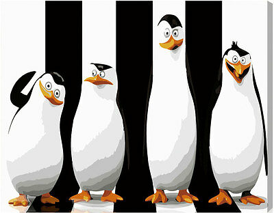 Acrylic Paint by Numbers kit 40x30cm (16x12'') The Penguins of Madagascar ML5002