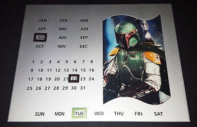 Star Wars Boba Fett Perpetual Forever Metal Desk Calendar made of Iron!
