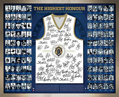 90 Years of the Brownlow Medal The Highest Honour Signed Guernsey Framed AFL