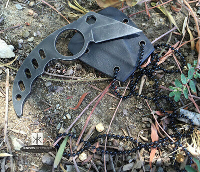"4.5"" Tactical Karambit Combat Neck Knife With K Sheath"