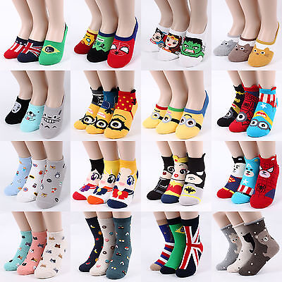 [Buy5+Gift1]Choice Adorable Socks Minions Halloween Sushi Totoro Puppy Cats Pets
