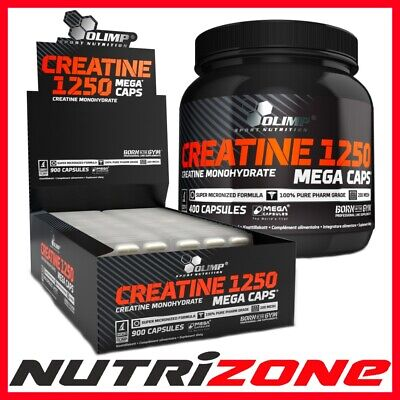 OLIMP CREATINE MONOHYDRATE 1250mg Pure Strong Creatine Lean Muscle Capsules
