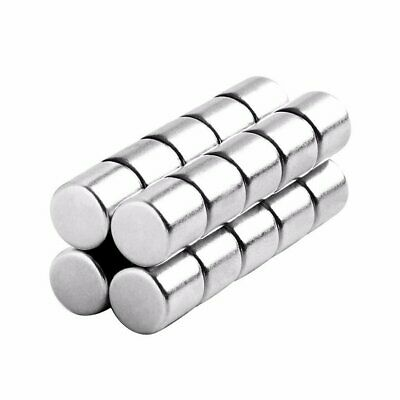 5/16 x 5/16 Inch Strong Neodymium Rare Earth Cylinder Magnets N48 (20 Pack)