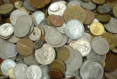 Two Pound Lot Of Mixed Foreign Coins