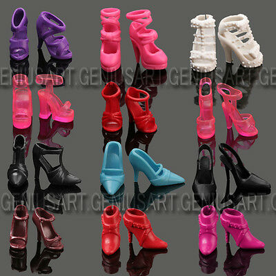 Fashion Mix 60 Pair Different Cute Princess High-Heel Shoes For Barbie Doll