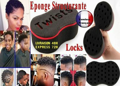 Brosse Structurante Eponge Locks Twists Curl Cheveux Afro Dread Gel Coiffure