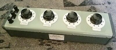 Cambridge Decade Resistor Box. 4 Ranges. X1 - X1000 .025A - 0.75A. Tested.