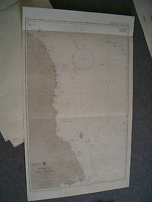 Vintage Admiralty Chart 3543 SINGAPORE to PULAU REDANG 1965 edn