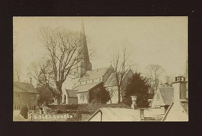 Gloucester Glos BISLEY Church c1900/10s? RP PPC slightly cut down