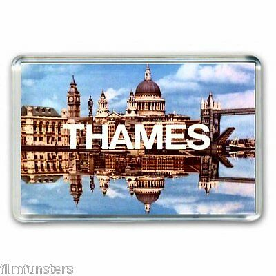RETRO TV NOSTALGIA ' THAMES TV LOGO'   JUMBO Fridge Magnet