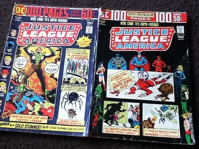 JUSTICE LEAGUE OF AMERICA #110 & 112 -  100 page Giants - DC 1974